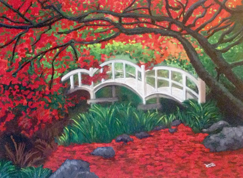 Paisaje japones en oto o for Arboles para jardin japones